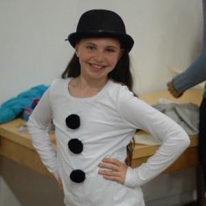 "Sara as Olaf the Snowman in ""In Summer"""